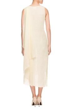 Off-white layered dress