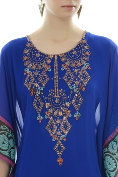 Dark blue kaftan