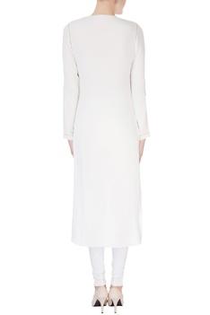 White draped style kurta