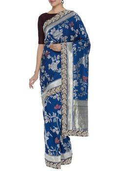 Banarasi sari with unstitched blouse piece