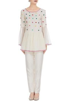 Kota doria flared sleeves angrakha blouse