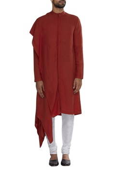 Draped layer kurta
