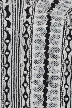 Embroidered chiffon kaftan