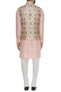 Floral brocade bundi jacket