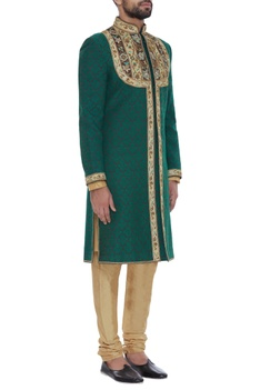 Handwork embroidered sherwani set