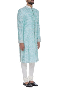 Pearl embroidered sherwani set