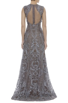 Cutdana Embroidered Trail Gown