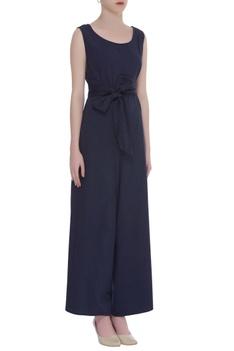 cotton linen Sleeveless jumpsuit