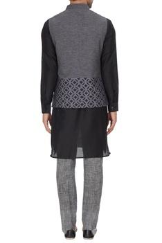 Nehru jacket with pattern.
