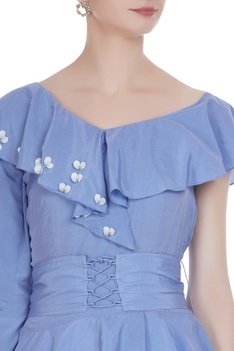 Drop shoulder corset blouse