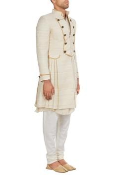 Muga silk sherwani set