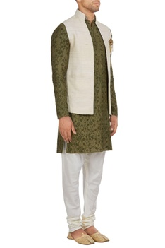 Muga silk waistcoat jacket