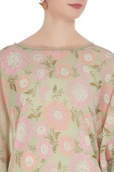 Floral motif printed tunic
