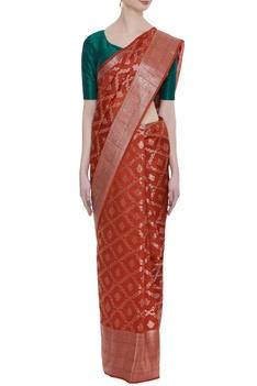 Pure tussar silk base hand woven sari