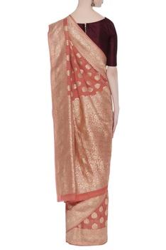 Khadi woven georgette sari
