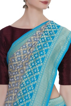 Georgette handwoven sari