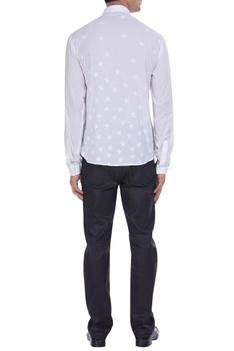 Star motif patchwork shirt
