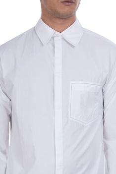 Hidden button placket shirt
