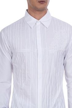 Owl patchwork shirt