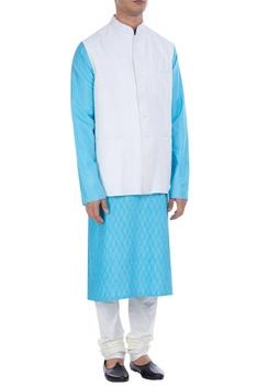 Nehru jacket with utility pockets