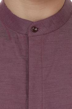 Stripe detail tailored shirt