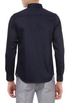 Crisp color-block button down shirt