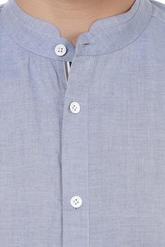 Color-block short sleeve shirt