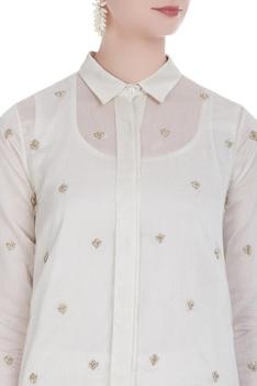 Handloom chanderi shirt
