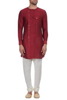 Overlap style kurta with chest pocket