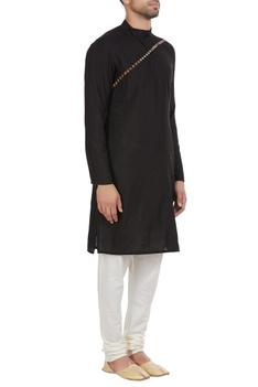 Diagonal stud detailed kurta