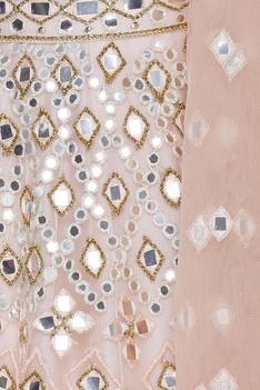 Mirror work embroidered lehenga set