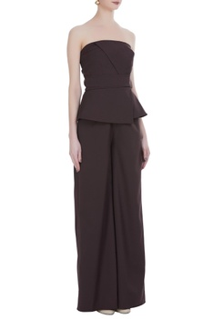Tube paneled jumpsuit