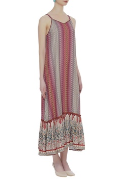 Spaghetti sleeves maxi dress