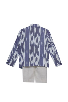 Printed jacket shirt with pants