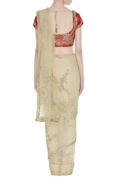 Embroidered sari with blouse