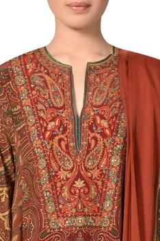 Silk jamavar kashmir inspired kurta set