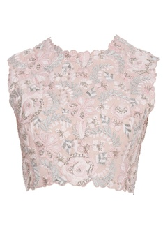 Floral embroidered top with pants