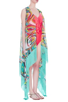 Abstract printed cover up