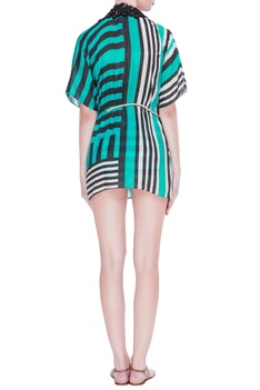 Striped cotton cover up