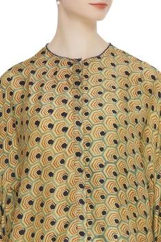 Hand block naturally dyed kimono shirt