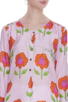 Rose printed kurta