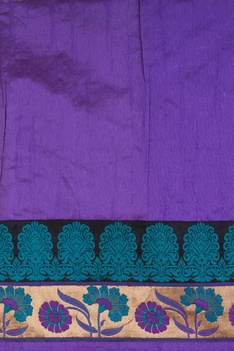 Tussar banarasi sari with unstitched blouse