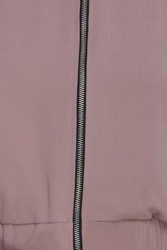 Bomber jacket & gathered waist pants