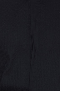 Black cotton shirt with wavy stitch details