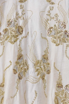 Raw silk sequin embroidered lehenga set