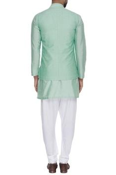 Embroidered mandarin collar waistcoat