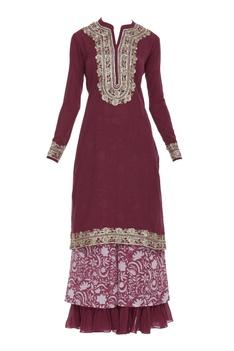 Embroidered cotton kurta set
