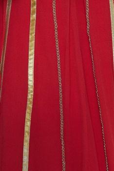 Zardozi & chain embroidered lehenga set
