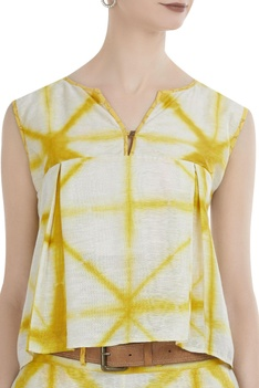 Clamp dyed top with palazzos