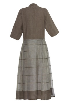 Khadi & kota silk striped tunic